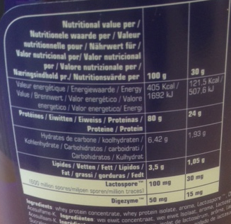 First Class Whey Label